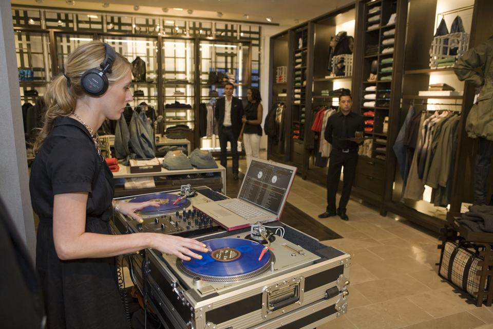 DJs drive the luxury retail experience