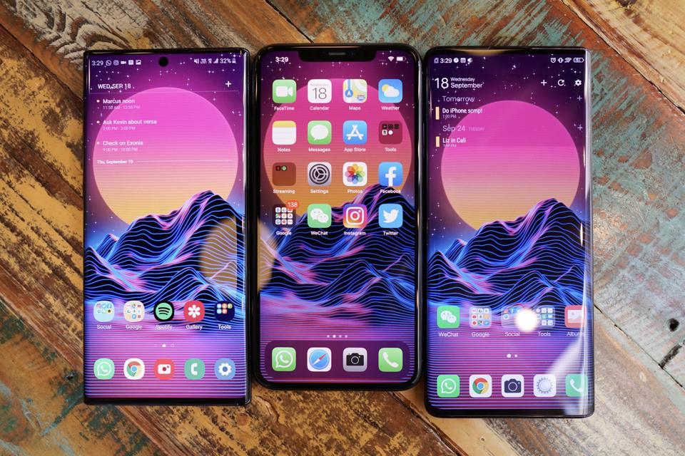 iPhone, Note 10, Nex 3