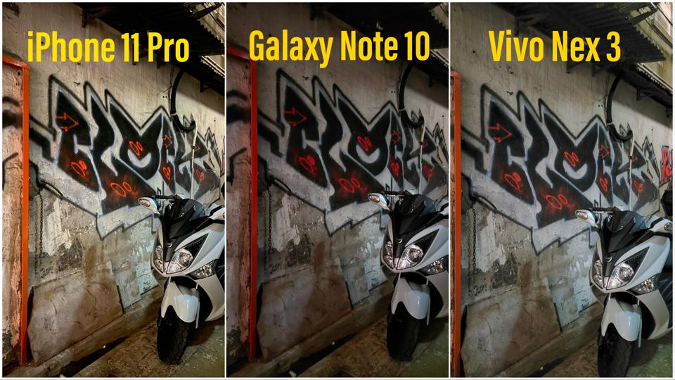 iPhone vs Note 10 vs Nex 3.