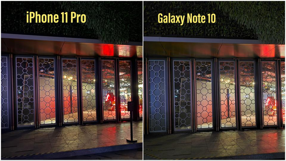 iPhone vs Note 10.