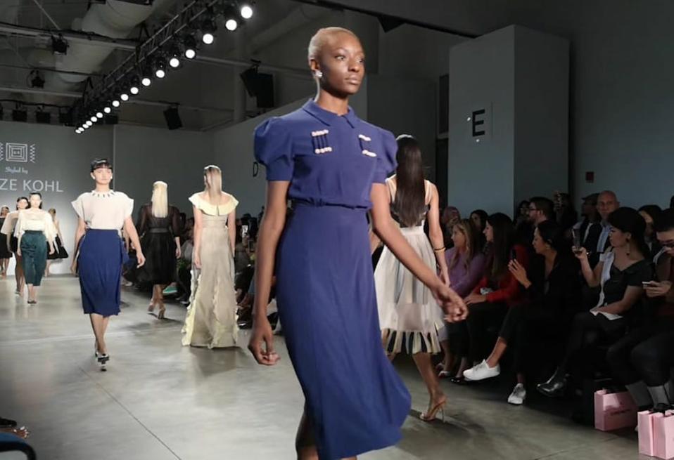 Glaze Kohl at New York Fashion Week, September 2019