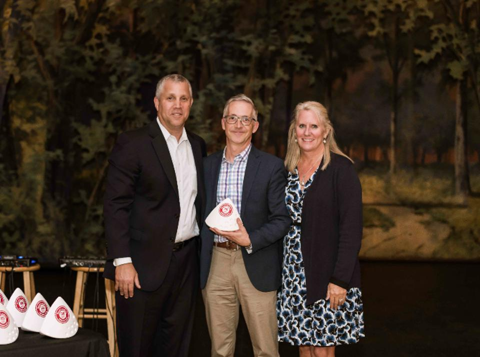 Big Path Capital at the Real Leaders 100 award ceremony: (L) Shawn Lesser, Co-Founder and Managing Partner; David Kahl, CEO of Fully; and Julie Van Ness, President of Real Leaders.
