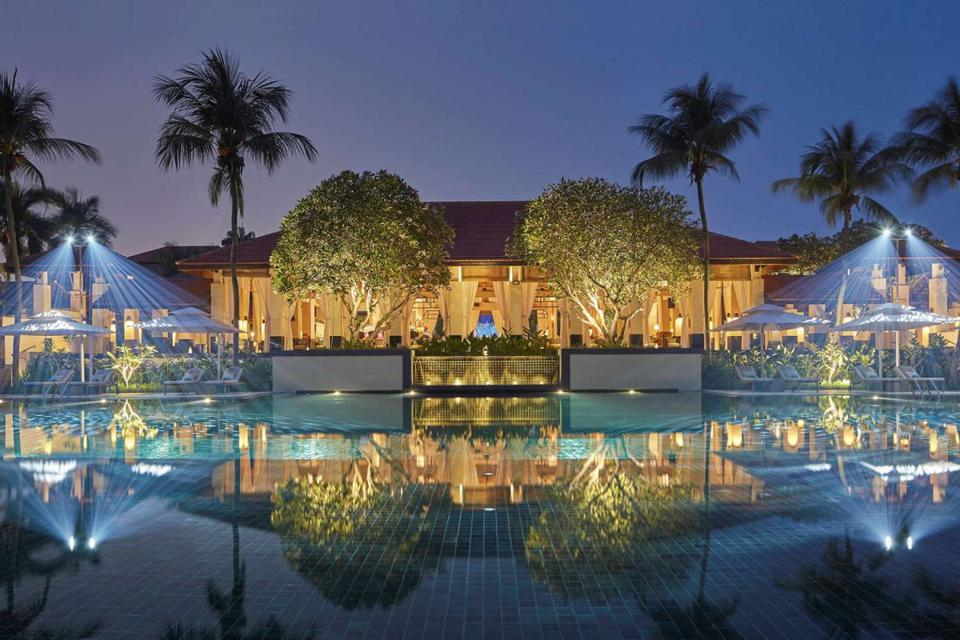An exterior shot of the Sofitel Singapore Sentosa
