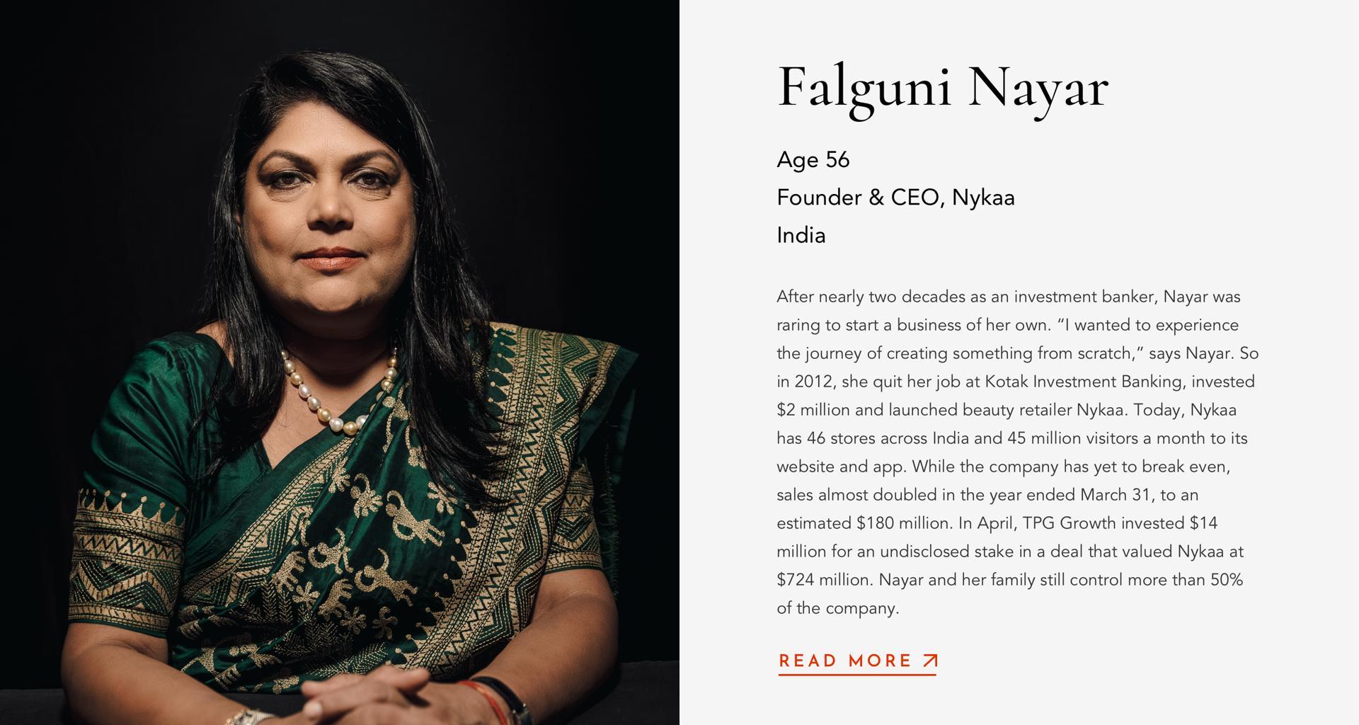 NayarFalguniFounder & CEONykaa56India