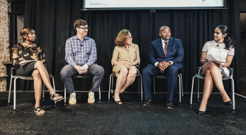 Dr. Jennifer Eberhardt (Stanford SPARQ), Dr. Ashby Monk (Stanford Global Projects Center), Dr. Hazel Markus (Stanford SPARQ), Daryn Dodson (Illumen Capital) and Shruti Nagarajan (Illumen Capital) discuss the findings of their collaborative study examining racial bias among professional investors