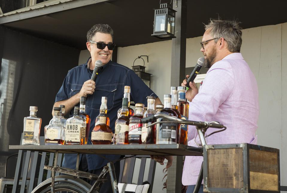 Adam Carolla in conversation with Fred Minnick on day three at Bourbon and Beyond. Sunday, September 22, 2019 in Louisville, Kentucky (Photo by Barry Brecheisen)