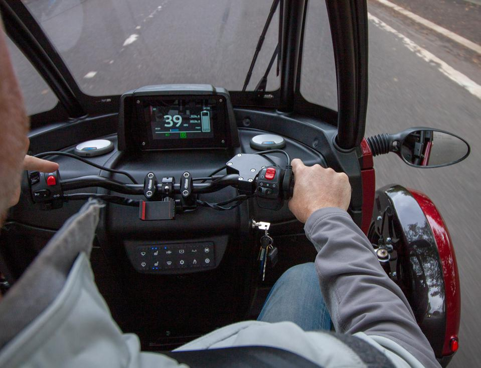 Turning is aided by a power-assist system, and an LCD panel displays the needed info drivers need.