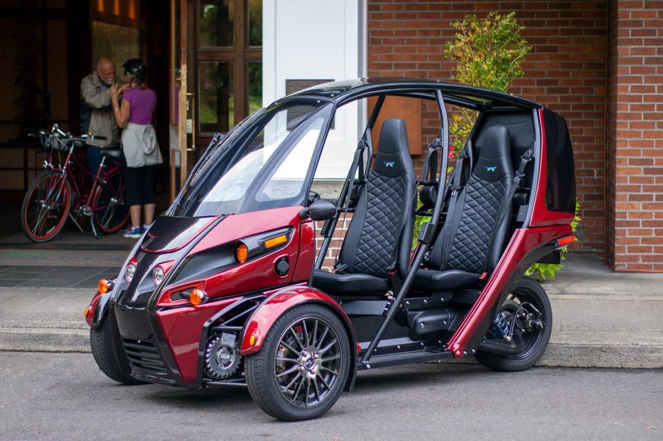 This Arcimoto 'Evergreen' model was the first street-legal production machine to be completed.