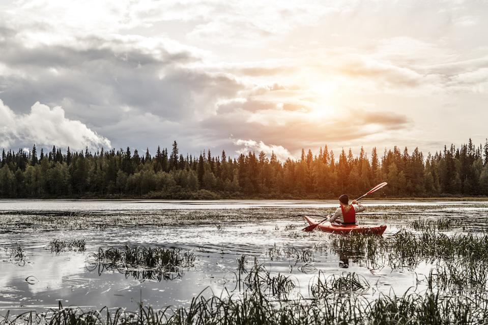 Canoe Paddling Oulanka River Ruka Kuusamo