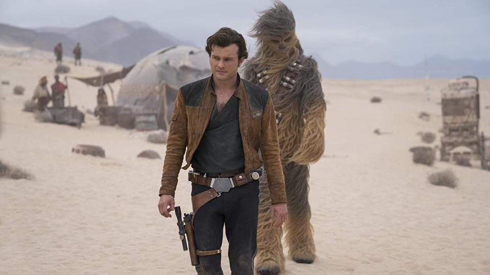 Alden Ehrenreich and Joonas Suotamo in 'Solo: A Star Wars Story'