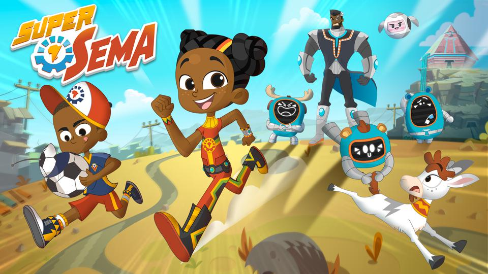 'Sema' teaches children reading, writing and math. The African heroine was created to empower children with the confidence to change the world.