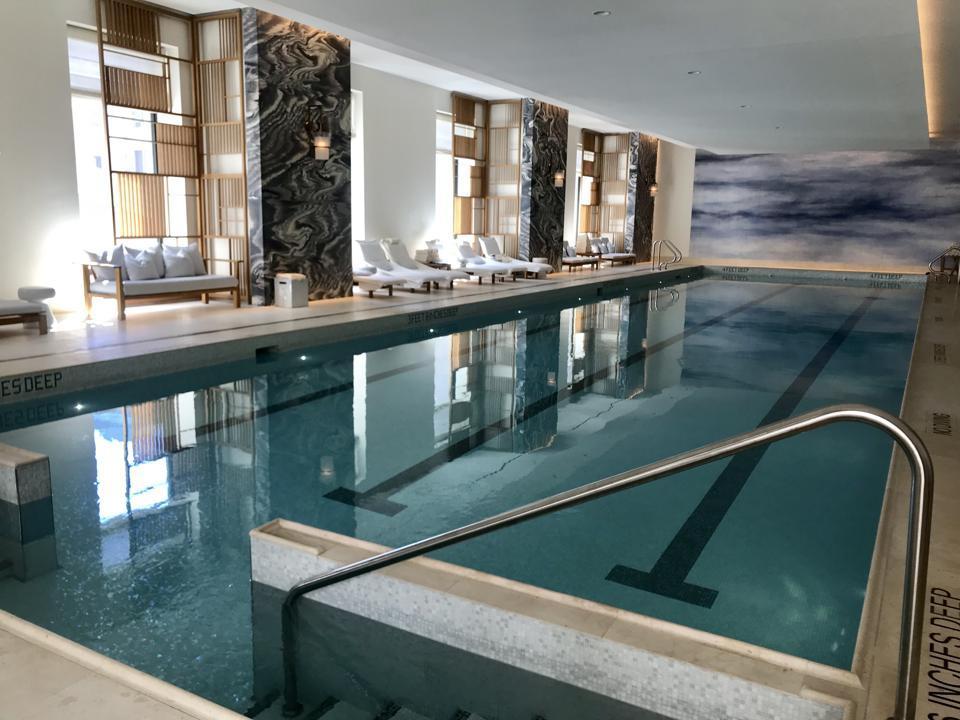 23 meters indoor lap pool inside the Spa