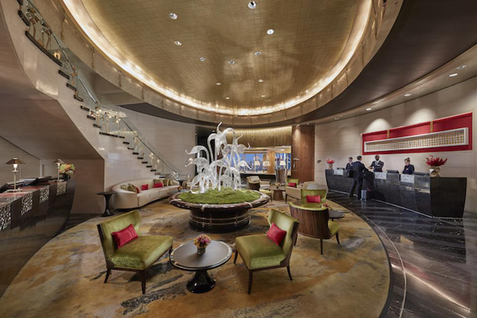 Sky Lobby of the Mandarin Oriental New York