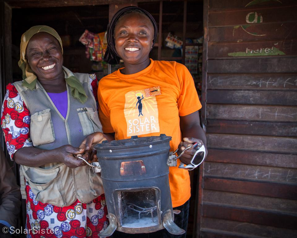 Solar-powered cookstove
