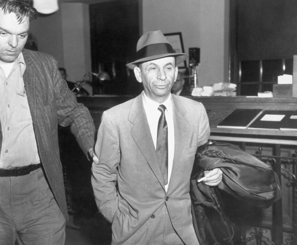 Gambling Boss Meyer Lansky During Arrest