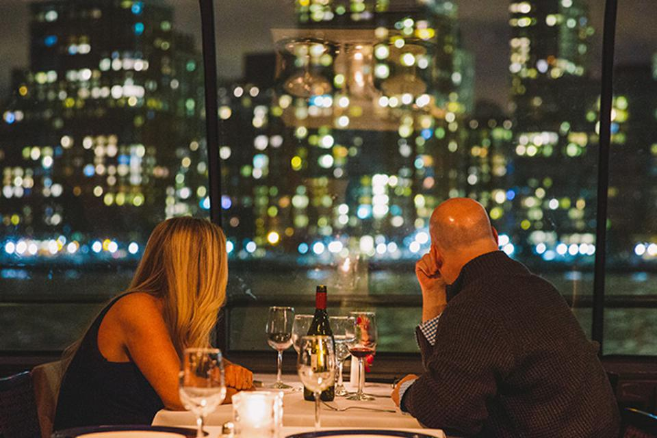 Enjoy New York at night with your private dinner table.