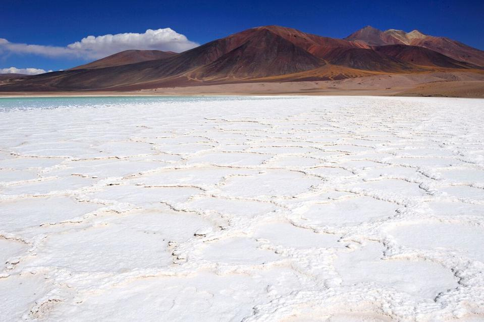 Salt flats in Chile