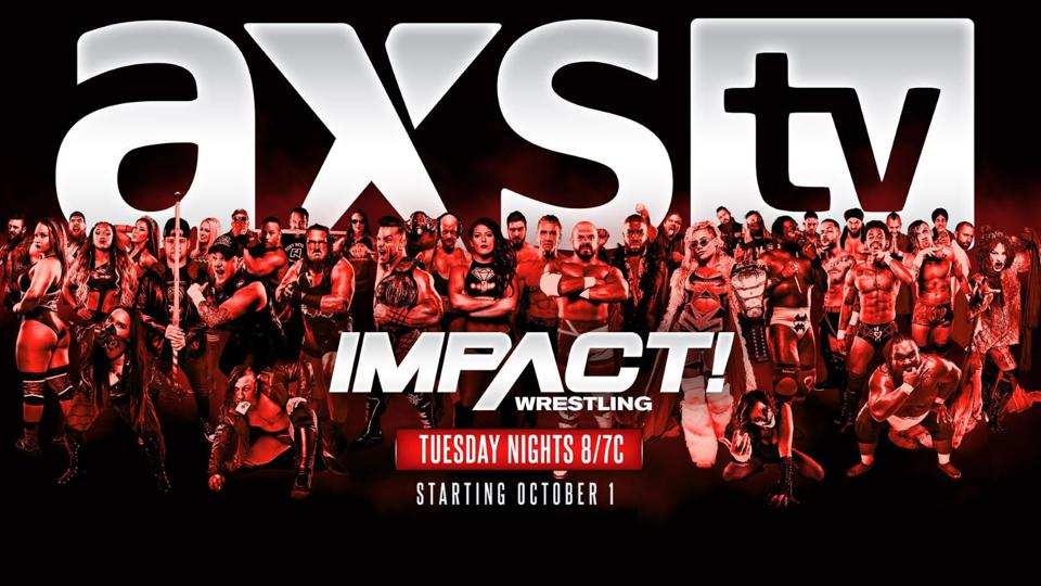 Impact Wrestling promotion image for their move to AXS TV.