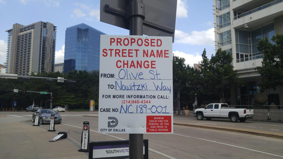 City Of Dallas Officially Renames A Street After Dirk Nowitzki