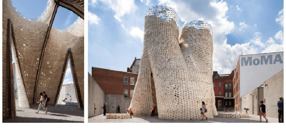 The future of fungi is here. In 2014, David Benjamin used Ecovative myco-bricks to construct Hy-Fi, a curving, tower-like structure commissioned by the Museum of Modern Art.