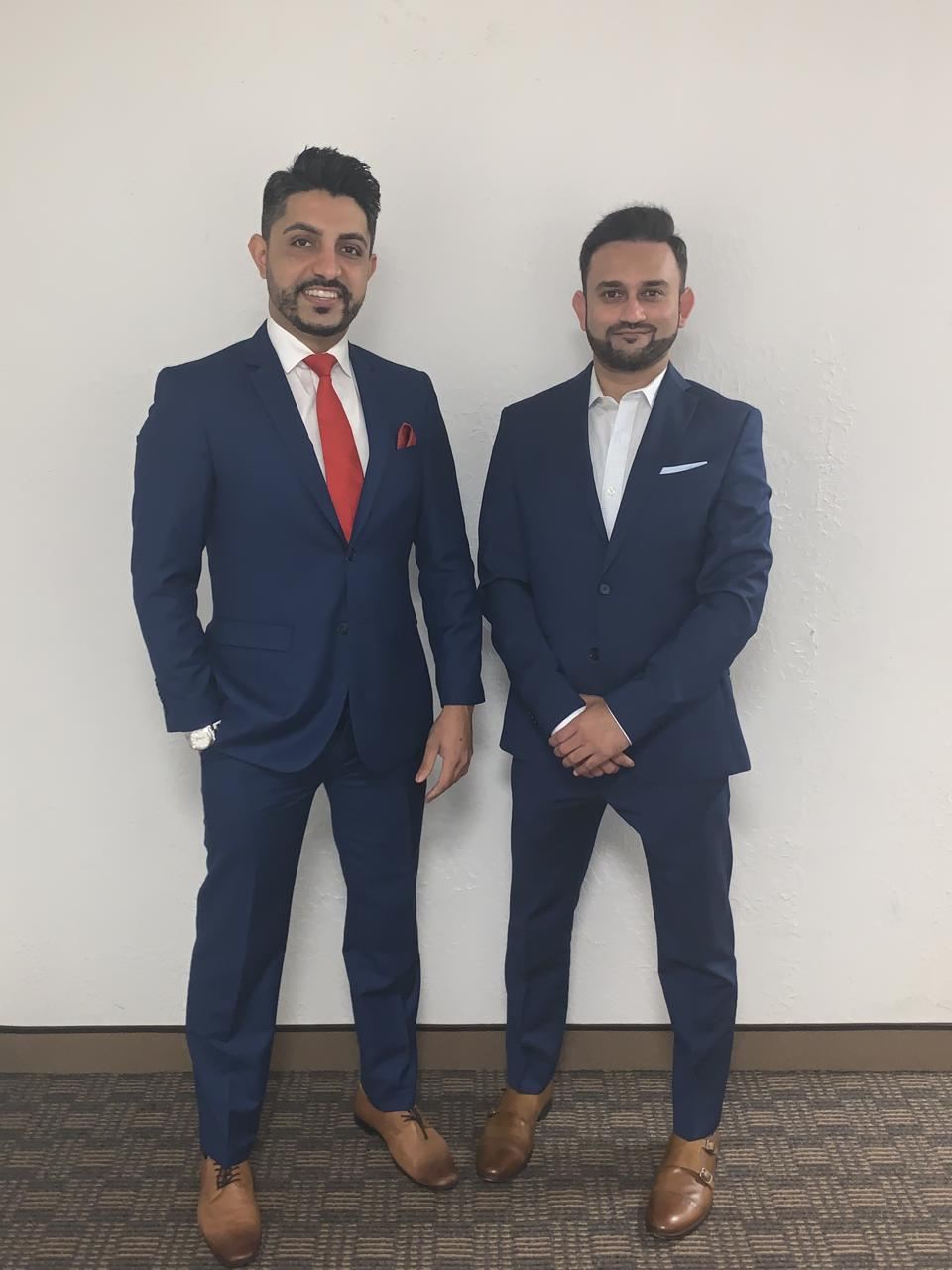 Code Ninjas partners Zeeshan Bhimji (left) and Nawroz Pirani.