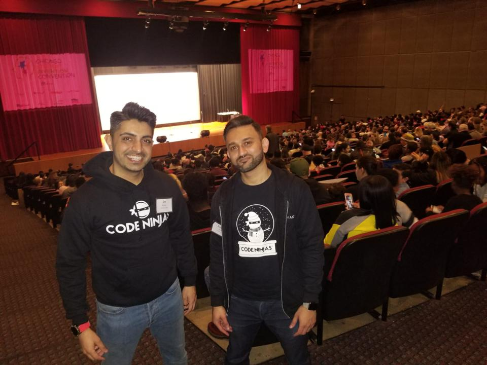 Code Ninjas franchisees Zeeshan Bhimji (left) and Nawroz Pirani.