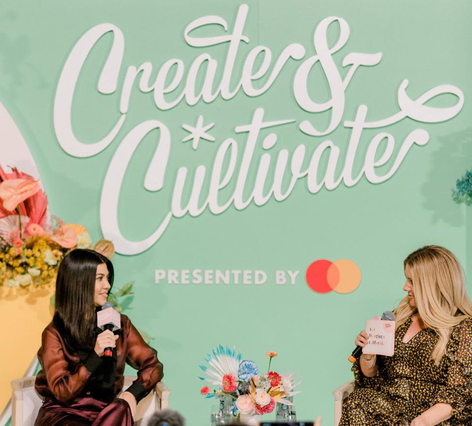 Kourtney Kardashian and Allison Statter at Create & Cultivate discuss ″made it″ moments and entrepreneurship in the digital age.