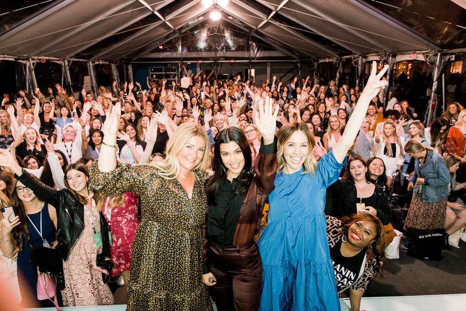 Allison Statter, Kourtney Kardashian, Jaclyn Johnson share in the excitement at Create & Cultivate San Francisco Conference.