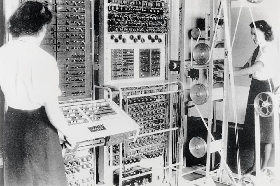 A Colossus Mark 2 codebreaking computer used by the Allies in WWII.