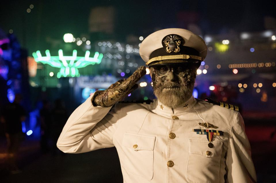 ″The Captain″ out in front of the Queen Mary in Long Beach, CA