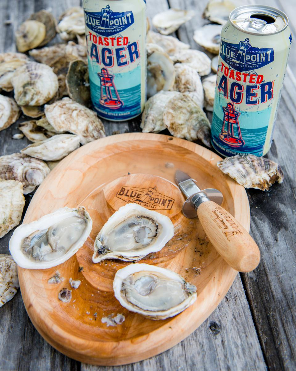 Oysters are important to Blue Point Brewing Company, which supports the Billion Oyster Project in New York.