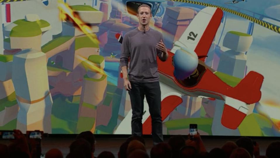 Mark Zuckerberg introducing Facebook Horizon at OC6