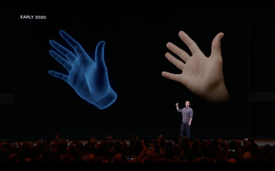 Mark Zuckerberg showing off Hand Tracking at OC6
