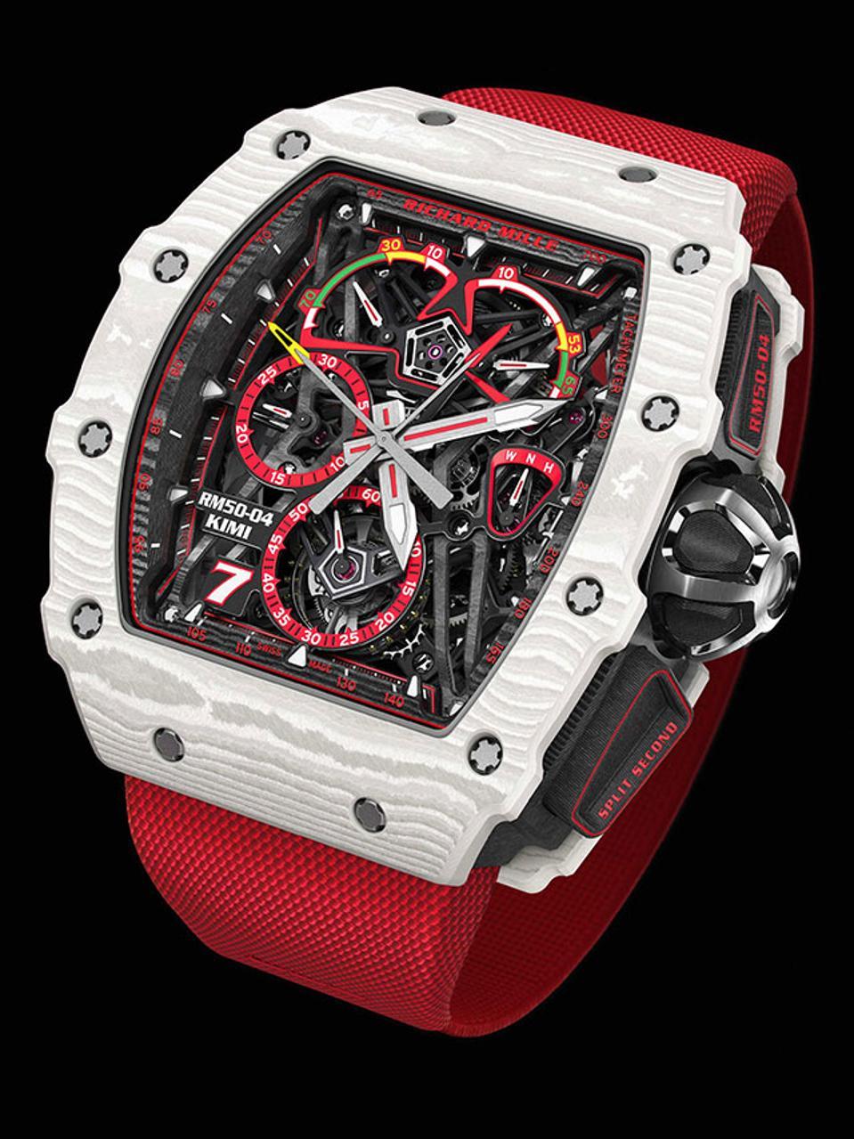 Richard Mille's Million-Dollar Racy Red Tourbillon Chronograph Kimi Räikkönen Limited Edition