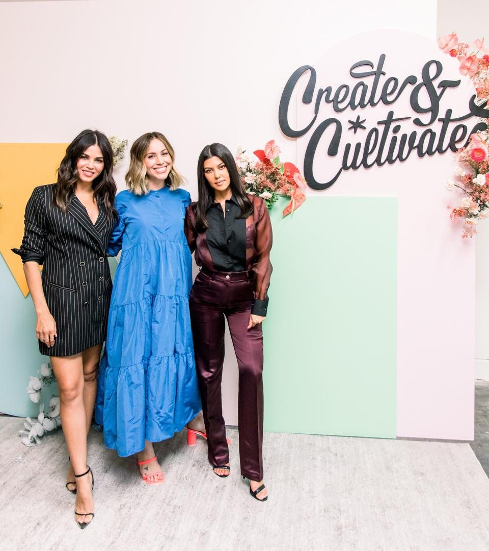 Create & Cultivate CEO and founder Jaclyn Johnson with Jenna Dewan and Kourtney Kardashian.
