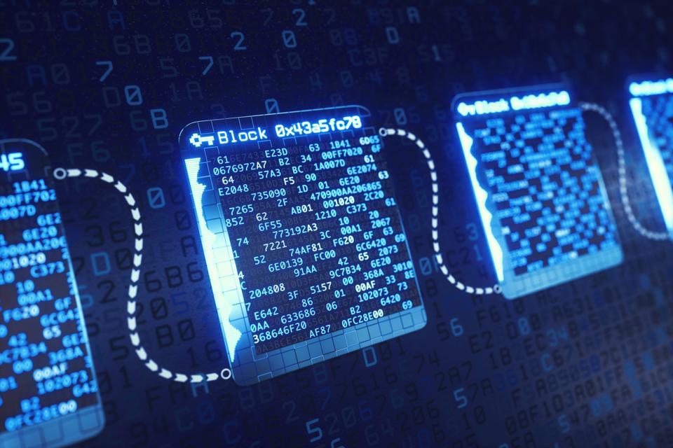 Blockchain Technology Structure Defocused