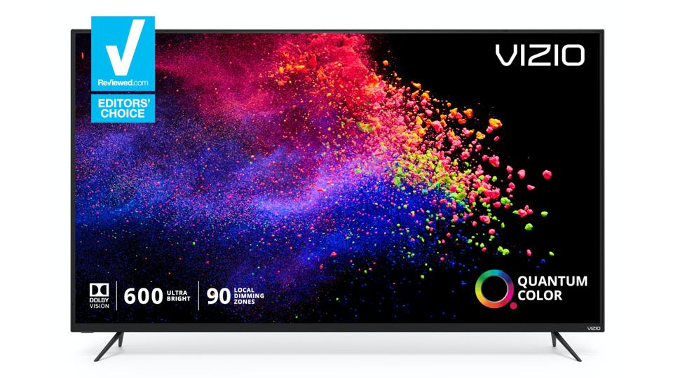Vizio TV with a colorful image on the display.