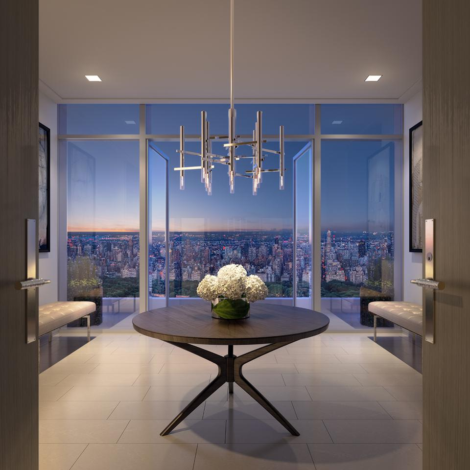 A view of New York City from an apartment in 200 Amsterdam.