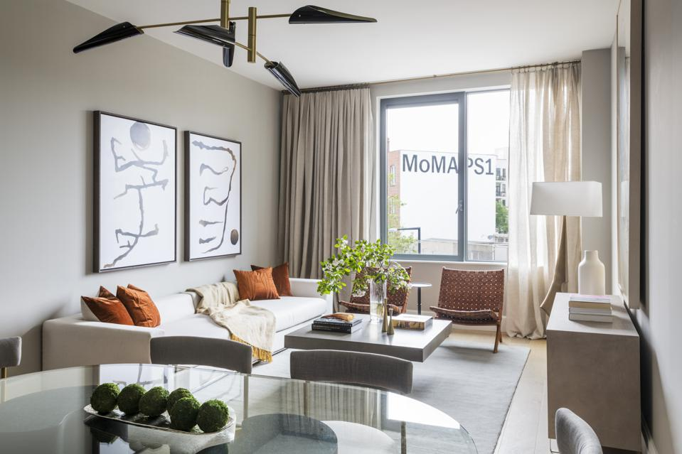 The interior of an apartment in Long Island City.