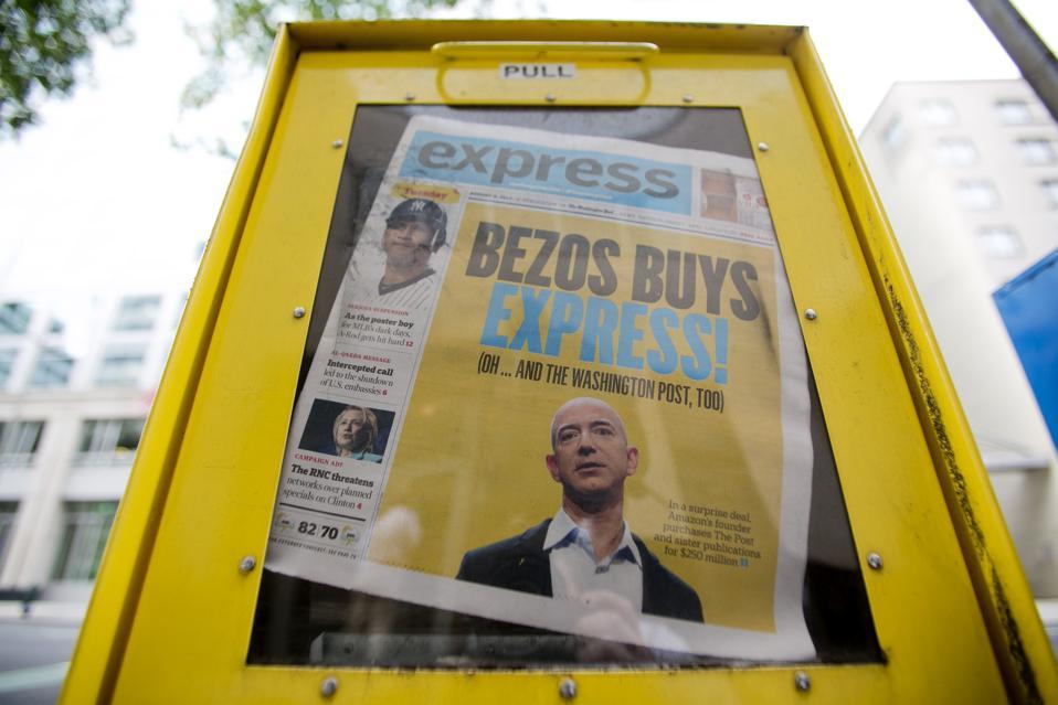 Amazon's Bezos Bets $250 Million on Washington Post Revival