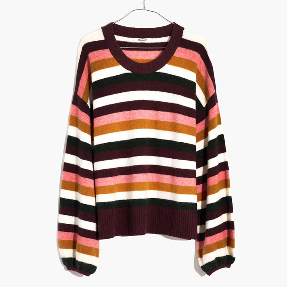 Madewell Striped Payton Pullover Sweater in Coziest Yarn