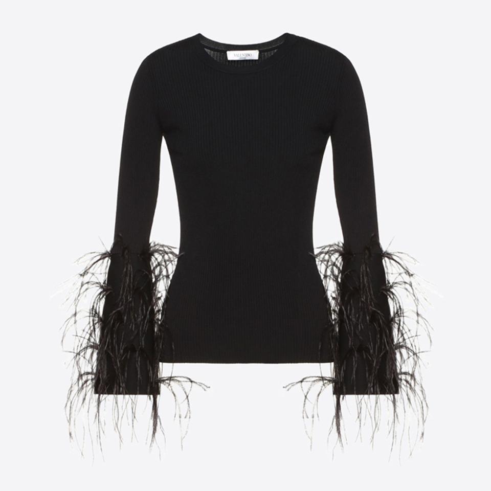 Valentino Embellished Stretch Viscose Sweater