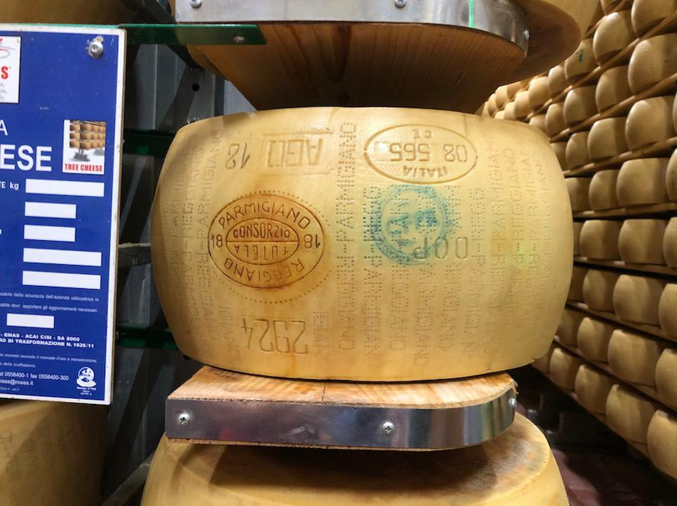 Each parmigiano wheel costs around $1,000.