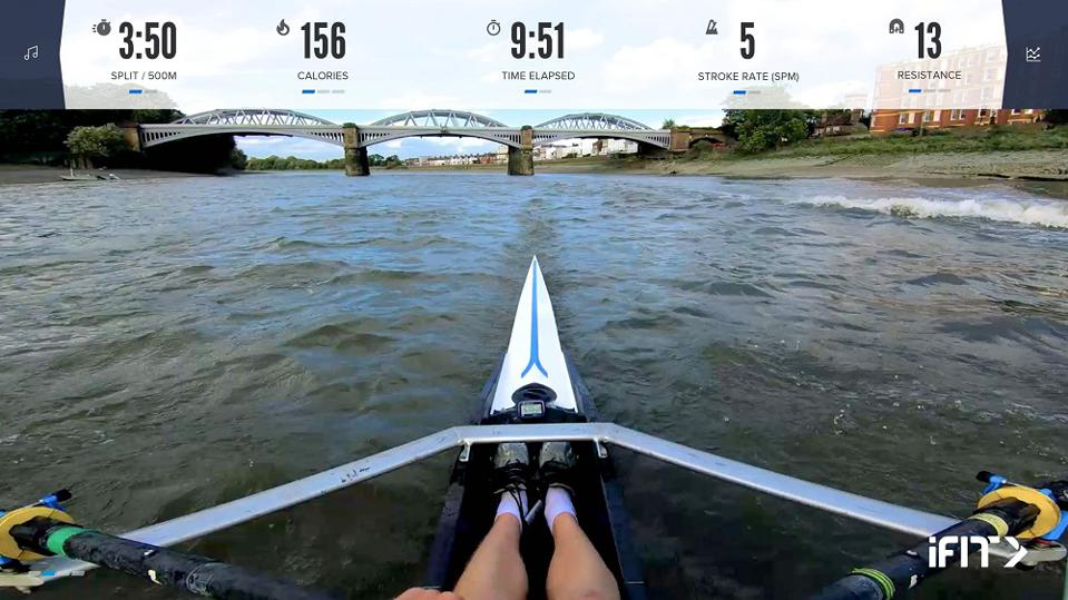 Home rowing machine workout