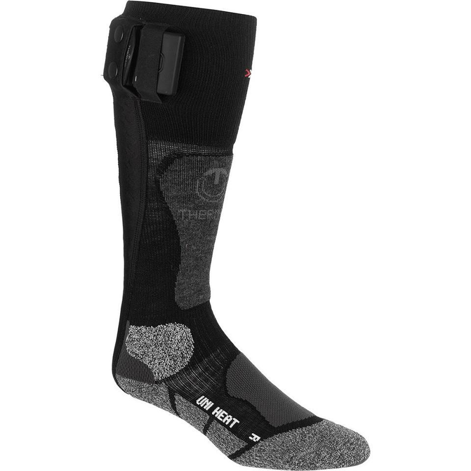 Heated ski socks