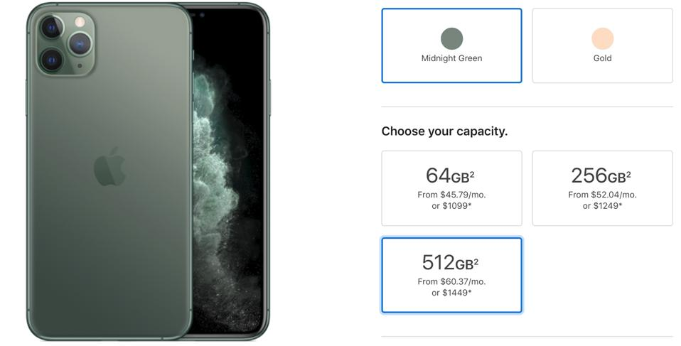Apple iPhone 11 Max cost price