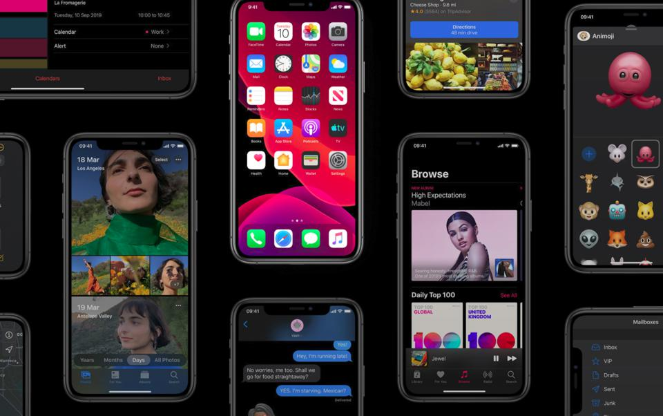 Apple iOS 13 iPhone 11 Pro Max iPhone XS XR