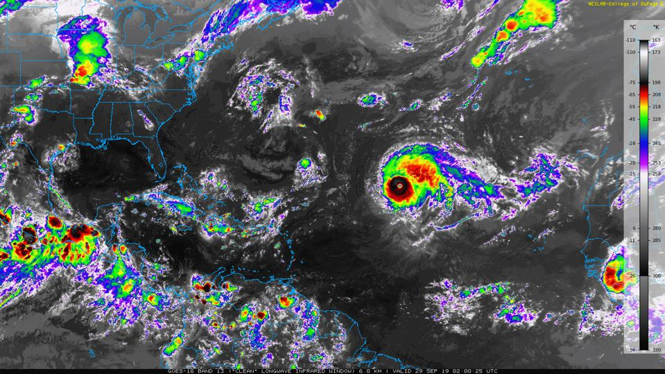 Historic Hurricane Lorenzo Becomes A Category Five In The Atlantic Ocean