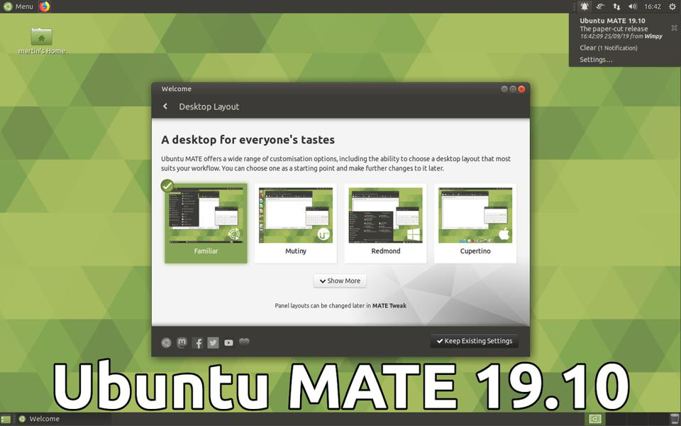 The Ubuntu MATE 19.10 'Paper Cut Release' Is A Great Lesson In Developer Transparency And Community Impact