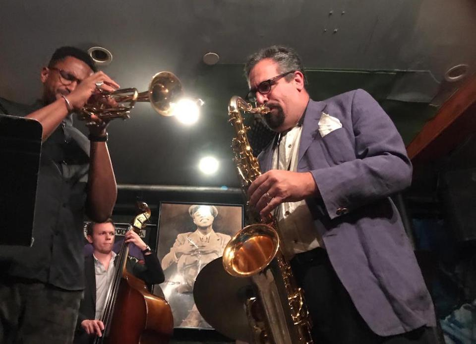Bruce Harris Quintet performing at Smalls in Greenwich Village,  New York